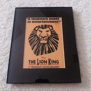 Lion King Poster in Frame